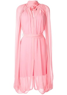 KITX cape-detailed midi dress