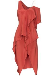KITX Diversity Spiral draped silk dress