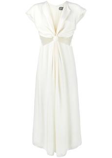 Kitx silk web knot dress - Nude & Neutrals