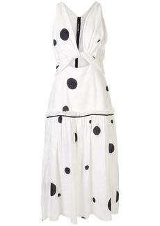 KITX polka dot twisted dress