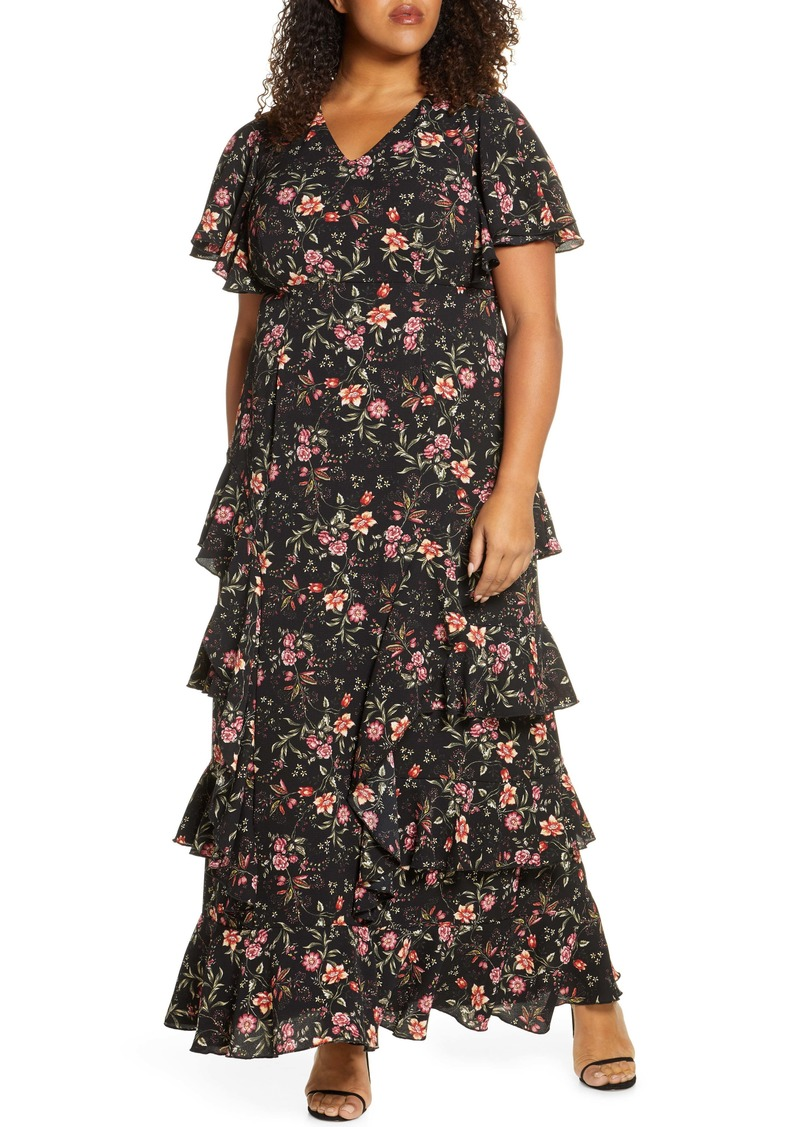 Kiyonna Tour de Flounce Tiered Maxi Dress (Plus Size)