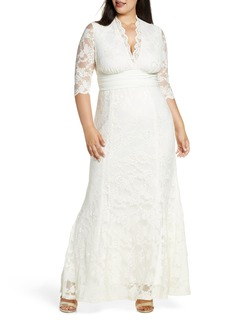 Plus Size Women's Kiyonna Amour Lace Gown
