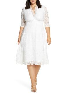 Plus Size Women's Kiyonna Bella Lace Fit & Flare Dress