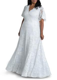 Plus Size Women's Kiyonna Blissful Lace Wedding Gown