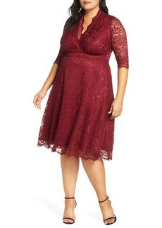 Plus Size Women's Kiyonna Mademoiselle Lace A-Line Dress
