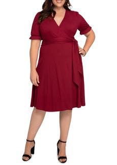 Plus Size Women's Kiyonna Tuscan Floral Wrap Dress