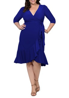 Plus Size Women's Kiyonna Whimsy Wrap Dress