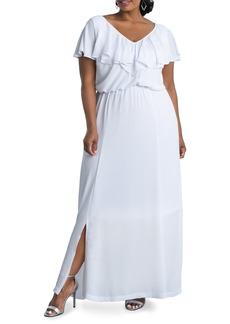 Plus Size Women's Kiyonna Willow Crepe Maxi Dress