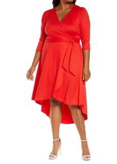Plus Size Women's Kiyonna Winona High/low Wrap Dress