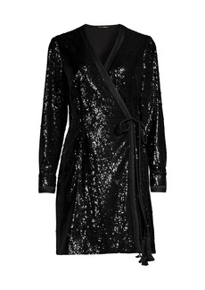 Kobi Halperin Addison Sequin Wrap Dress