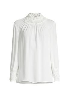 Kobi Halperin Alara Shirred Silk Blouse