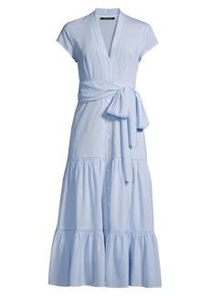 Kobi Halperin Amira Belted Button-Front Dress