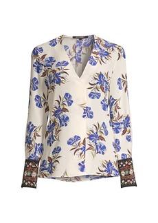 Kobi Halperin Andes Printed Silk Blouse