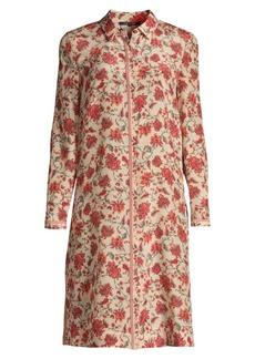 Kobi Halperin Coralie Floral Longline Silk Blouse