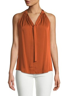 d51d3be1dbf7d Kobi Halperin Devin Stretch-Silk Halter Blouse