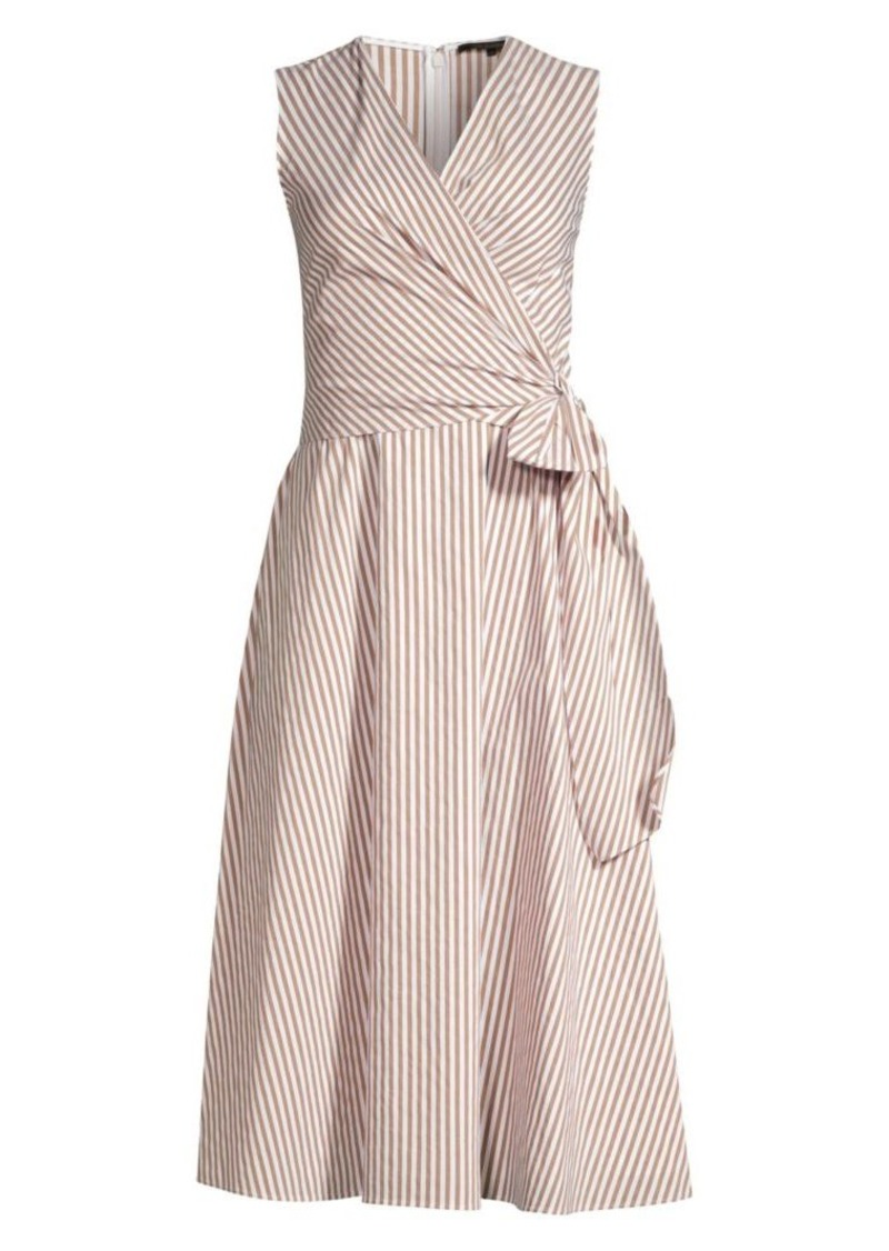 Kobi Halperin Dina Striped Sleeveless Wrap Dress