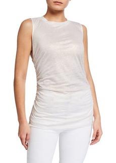 Kobi Halperin Farah Sleeveless Foiled Jersey Top