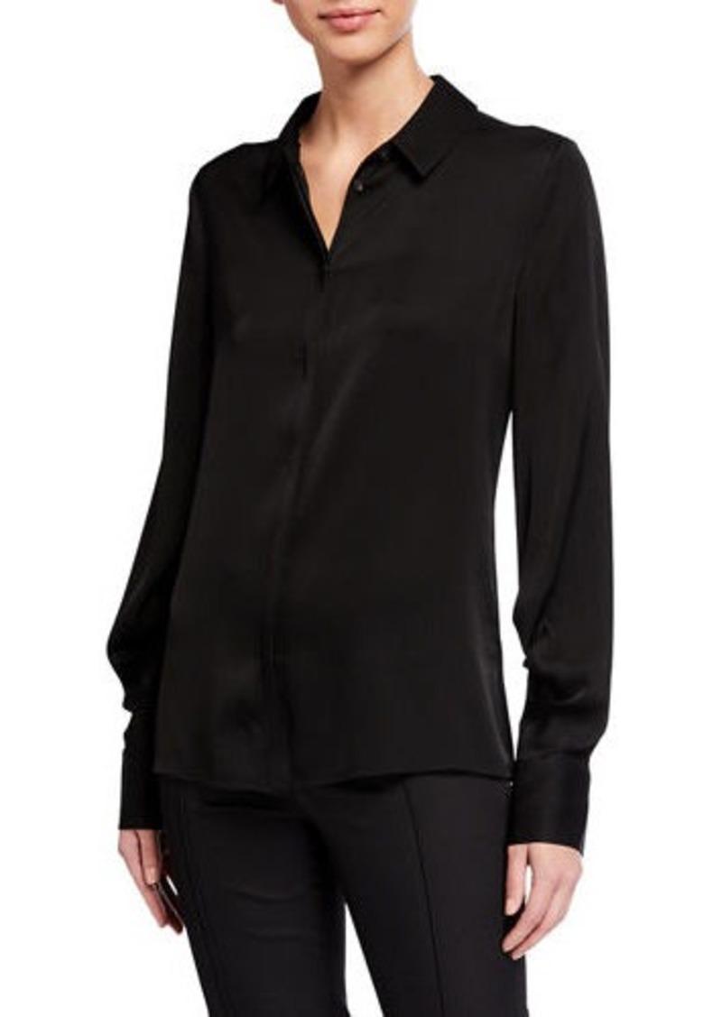 Kobi Halperin Felicity Stretch Silk Button-Down Blouse
