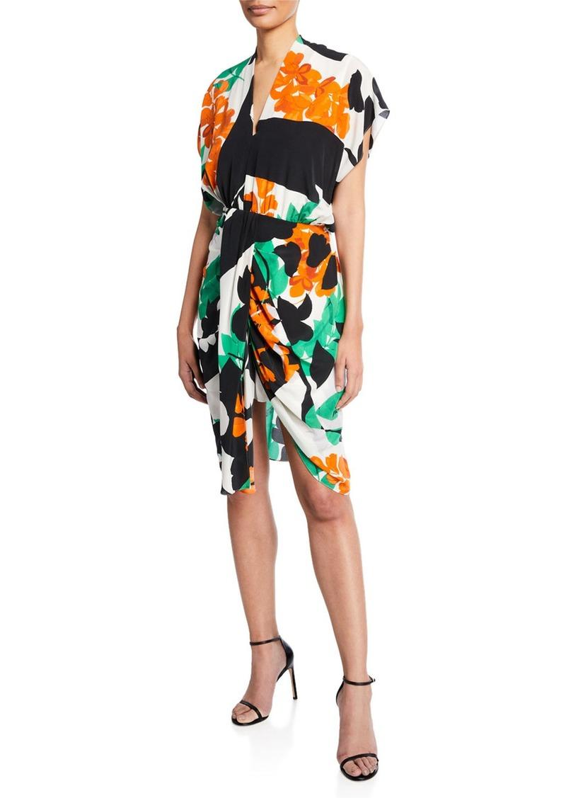 Kobi Halperin Freya Abstract Short-Sleeve High-Low Dress