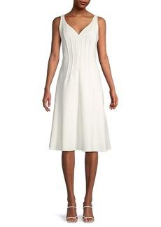 Kobi Halperin Hadar Pintucked-Seam A-Line Dress