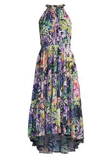 Kobi Halperin Hope Floral-Print Tiered Sleeveless Dress