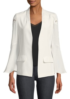 Kobi Halperin Jayleen Lace-Inset Open-Front Jacket
