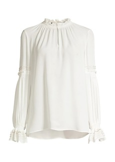 Kobi Halperin Jencey Beaded Silk Blouse