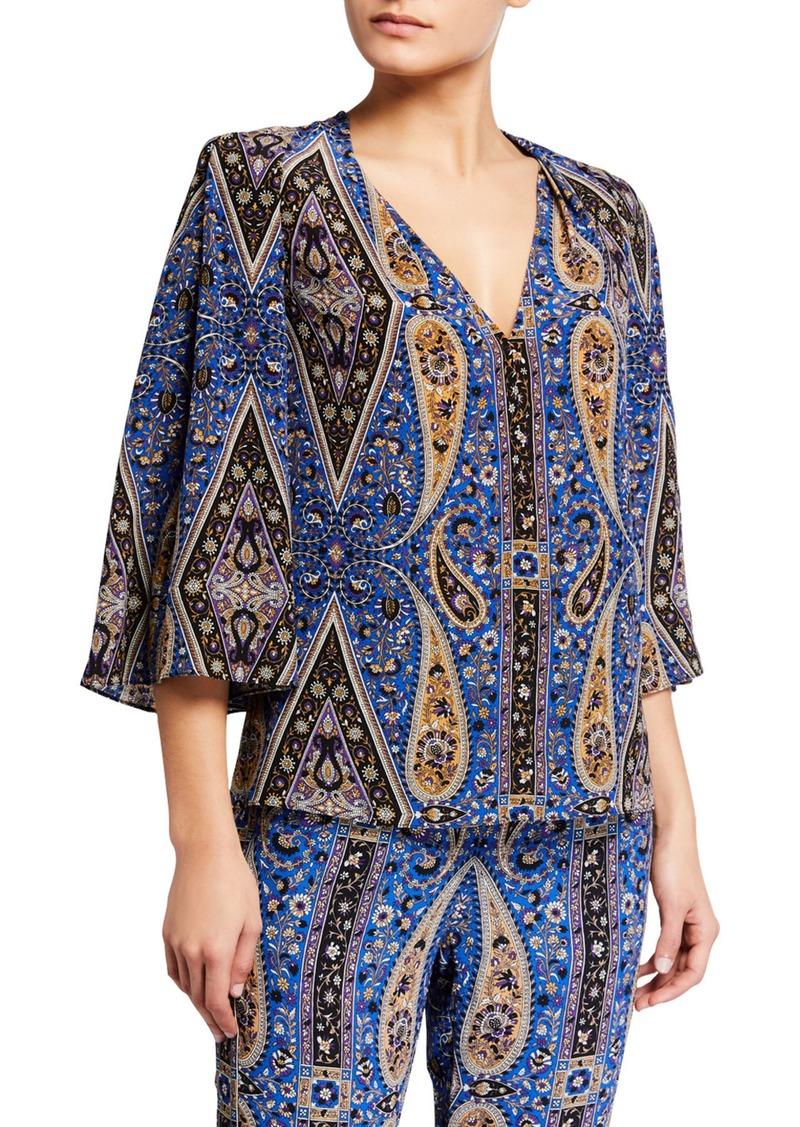 Jeneva Paisley Silk Blouse