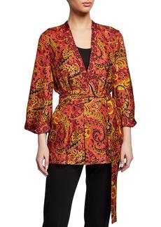Kobi Halperin Josephine Paisley-Printed Silk Jacket