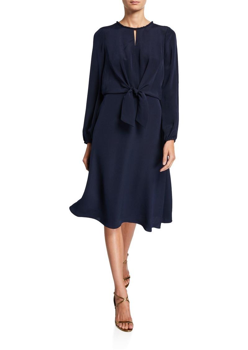 Kobi Halperin Kaya Long-Sleeve Silk Georgette Dress