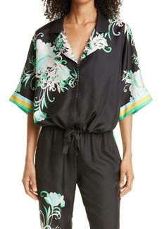 KOBI HALPERIN Bobbi Floral Silk Jacket