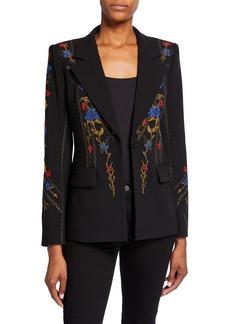 Kobi Halperin Carolyn One-Button Crepe Jacket