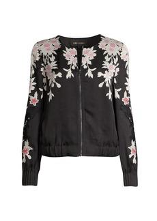 Kobi Halperin Lacey Floral Bomber Jacket