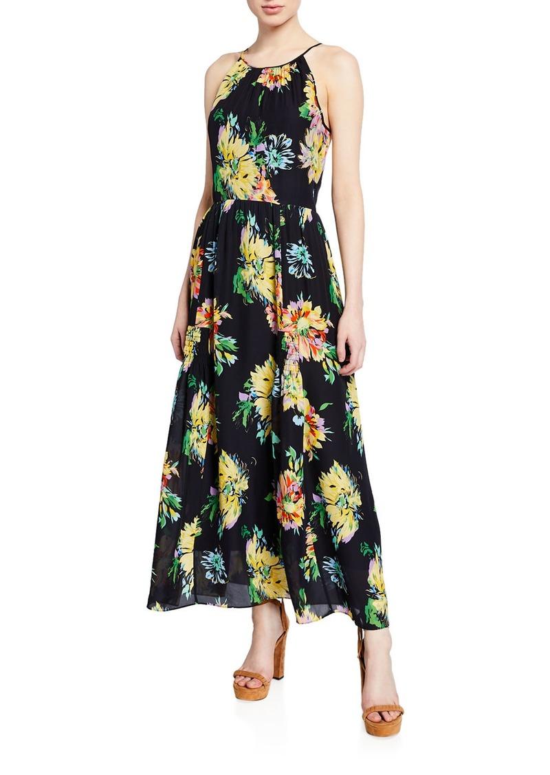 Kobi Halperin Lana Floral-Print Halter Dress