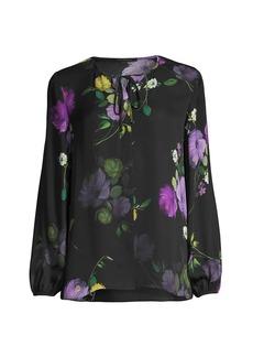 Kobi Halperin Lizzy Floral Silk Blouse