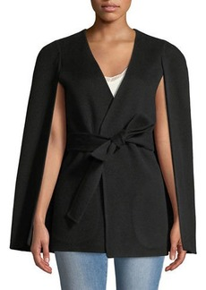 Kobi Halperin Maria Wool-Blend Cape-Sleeve Coat