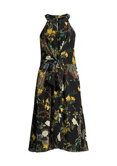 Kobi Halperin Mavis Tie-Waist Silk Dress