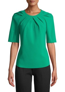 Kobi Halperin Meghan Tucked Short-Sleeve Blouse