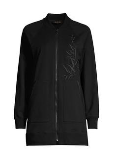 Kobi Halperin Mia Bamboo-Embroidered Bomber Jacket