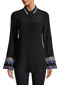 Kobi Halperin Monica Embroidered Sleeve Blouse