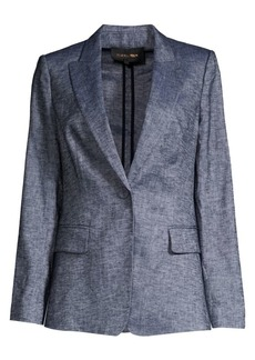 Kobi Halperin Palma Chambray Single-Breasted Jacket