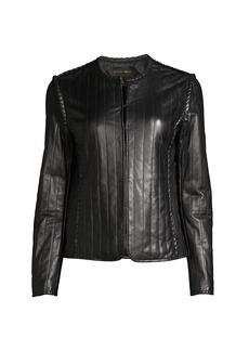 Kobi Halperin Pria Quilted Leather Jacket