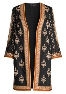 Kobi Halperin Rowen Embroidered Linen-Blend Coat