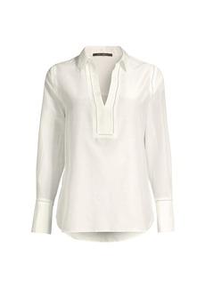 Kobi Halperin Sabrina Silk-Cotton Tunic Blouse