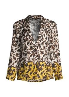Kobi Halperin Sean Dip-Dye Floral Silk Jacket