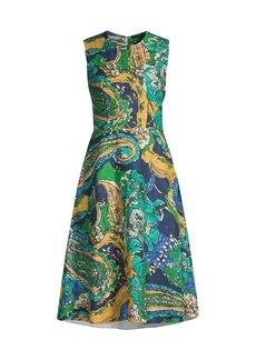 Kobi Halperin Sophie Tropical Linen A-Line Dress