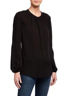 Kobi Halperin Stephanie Long-Sleeve Silk Blouse