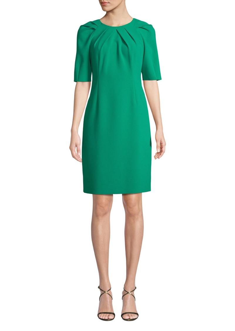 Kobi Halperin Taylor Short-Sleeve Tucked Sheath Dress