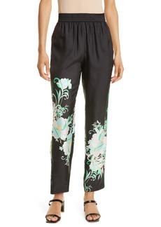 Women's Kobi Halperin Dani Floral Silk Pants