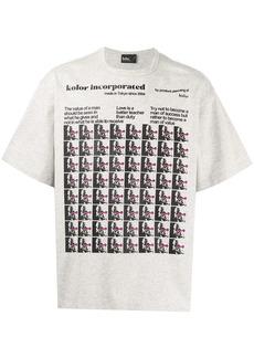 Kolor Albert Einstein print T-shirt